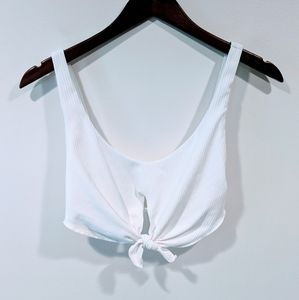 Surf Style By Damsel White Tie Front Top